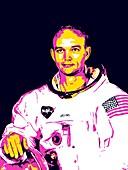Michael Collins, Apollo 11 astronaut, illustration