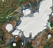 Okjokull glacier, 1986, satellite image