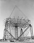 300-foot Green Bank radio telescope construction, 1961
