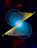 Structure of a pulsar, illustration