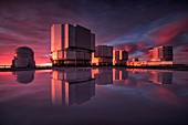 Sunset at the Very Large Telescope, Cerro Paranal, Chile