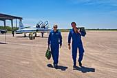 NASA astronauts and T-38 trainer aircraft