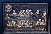 Astronaut memorial plaque at KSC
