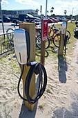 Tesla recharging station at Cocoa Beach