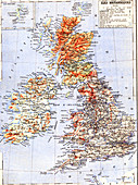 Map of the British Isles, 1880s
