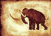 Woolly mammoth, illustration