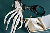 Cigarette addiction, conceptual image