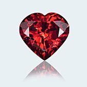 Heart shape ruby