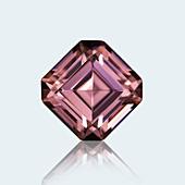Emerald cut pink sapphire