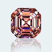 Asscher cut pink sapphire