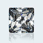 Square princess cut diamond