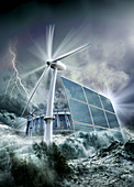 Alternative energy, illustration