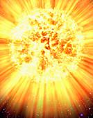 Exploding planet, illustration