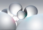 Floating spheres, illustration