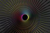 Wormhole, conceptual illustration