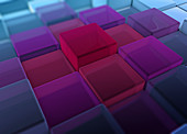Cube surface, illustration