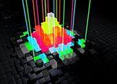 Abstract bright blocks, illustration