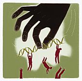 Genetic advantage, conceptual illustration
