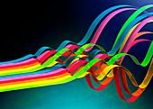Colourful ribbons, illustration