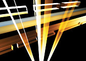Abstract structure of light beams and girders, illustration