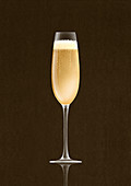 Champagne in champagne flute, illustration