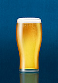 Pint glass of beer, illustration