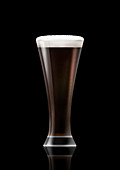 Glass of stout beer, illustration