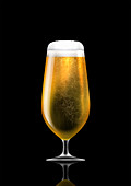 Stemmed glass of lager, illustration