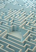 Centre of labyrinth, illustration