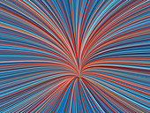 Abstract line shape with red and blue colours, illustration