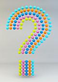 Balls arranged in question mark, illustration
