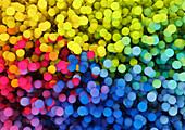 Close up of multicoloured balls, illustration
