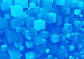 3D cubes, illustration