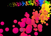 Neon flowing blobs, illustration
