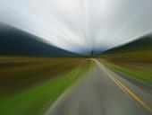 Defocused road, illustration