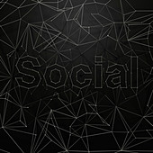 Network of dots and lines that spell social', illustration