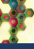 Abstract pattern of connected hexagons, illustration