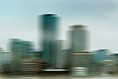 Blurred cityscape, illustration