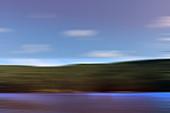 Blurred lake landscape, illustration