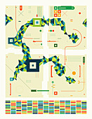 Abstract geometric shapes, illustration