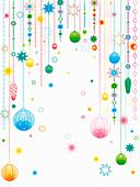 Hanging Christmas ornaments, illustration
