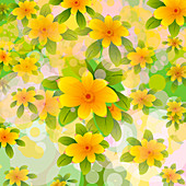 Flower pattern, illustration