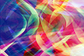 Wavy chaotic abstract illustration