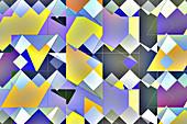 Abstract tile pattern, illustration