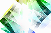 Abstract pattern of translucent diamond shapes, illustration