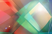 Abstract pattern of translucent shapes, illustration