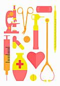 Medical equipment, illustration
