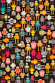 Robot pattern, illustration