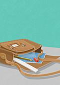 School satchel, illustration