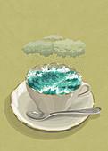 Storm in a teacup, illustration